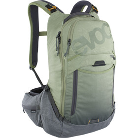 EVOC Trail Pro 16 Protector Backpack, light olive/carbon grey